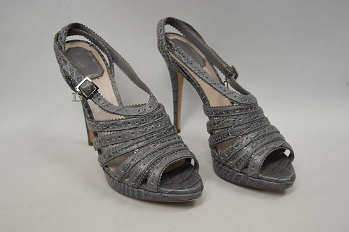 Christian Dior Gray Strappy Heels Size 9.5