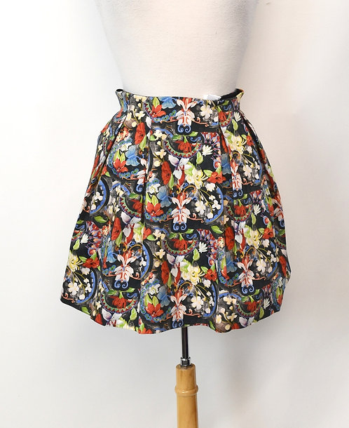 Alice + Olivia Multi-Colored Print Skirt Size Small (6)