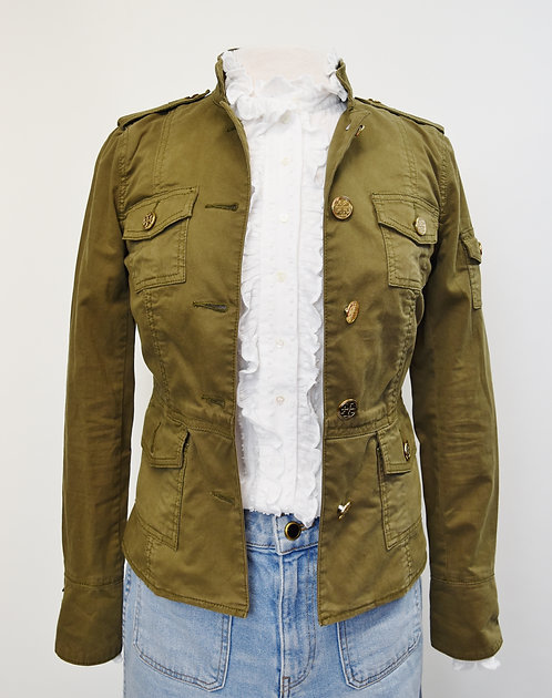 Tory Burch Green Spring Jacket Size XS