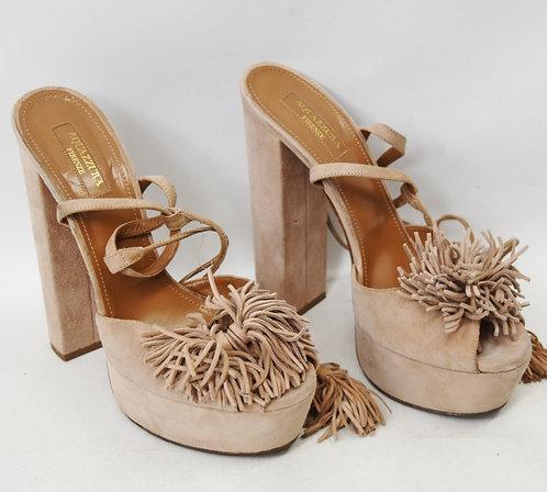 Aquazzura Blush Suede Heels Size 8