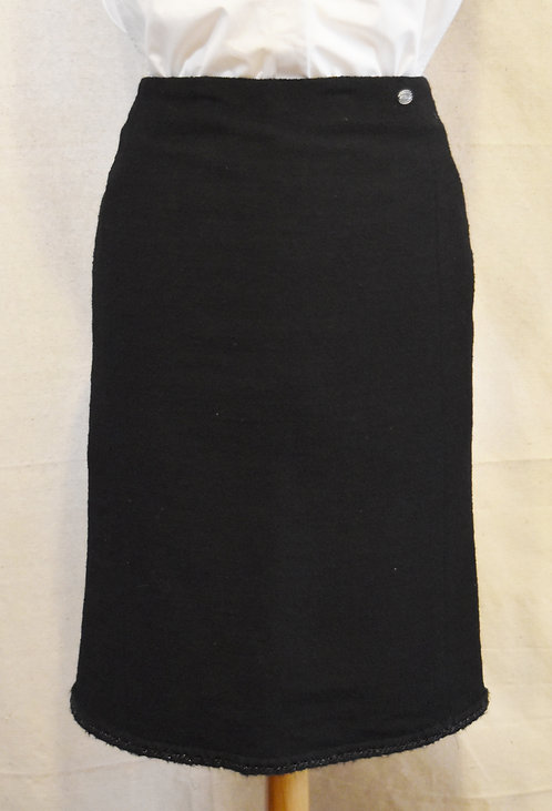 Chanel Black Boucle Pencil Skirt Size 10