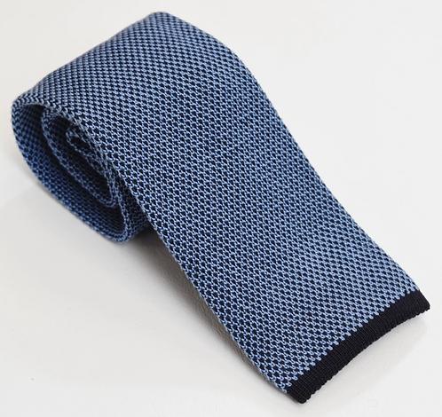 Ermenegildo Zegna Blue Knit Tie