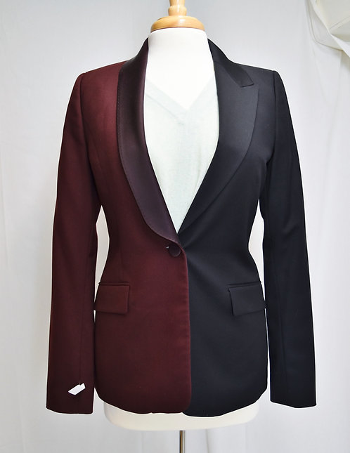 Maison Martin Margiela Maroon & Black Blazer Size Small