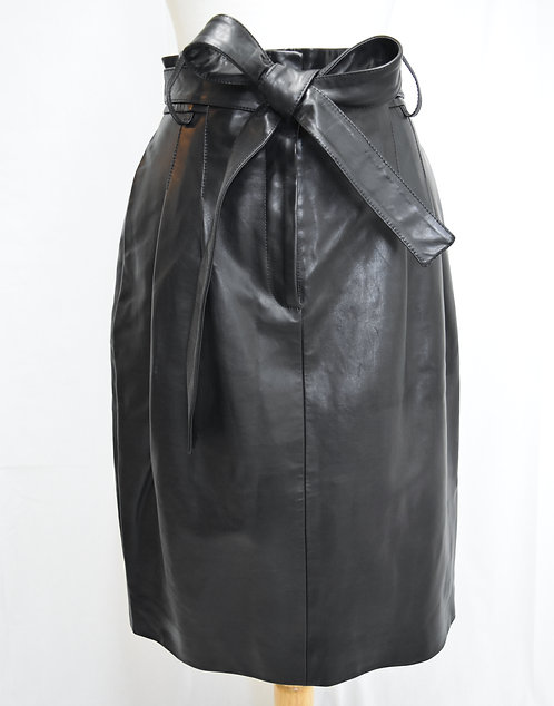 Creatures Of The Wind Black Leather Skirt Size 8