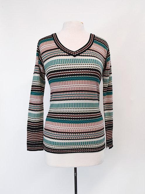Missoni Pink & Green Knit Sweater Size Medium (8)