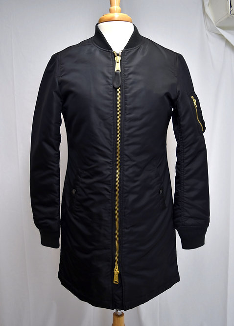 Alpha Industries Black Insulated Coat Size XS