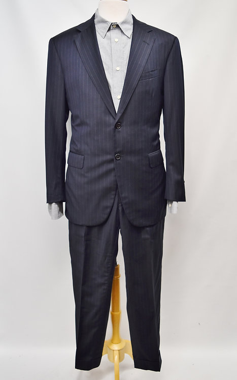 Oxxford Clothes Navy Suit Size 42R