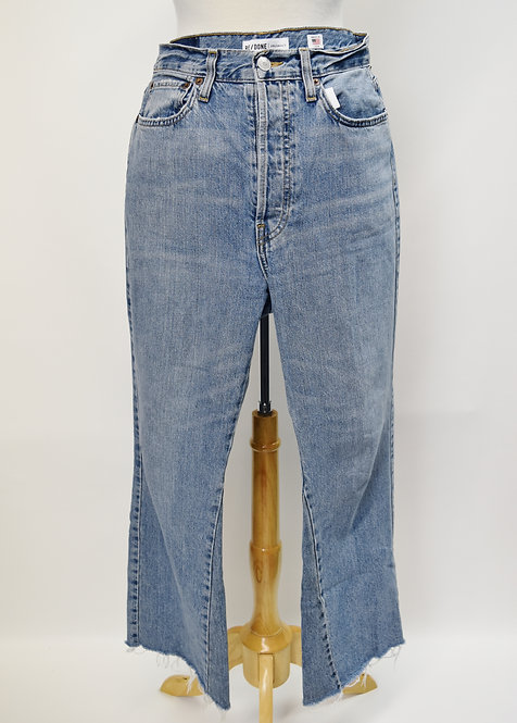 Re/Done Light Wash Cropped Jeans Size 30