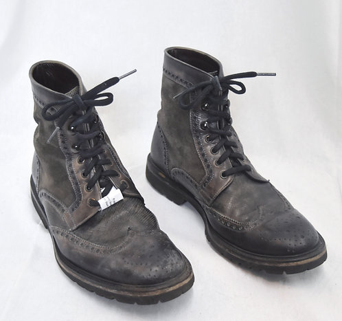 Magnanni Gray Leather Boots Size 8