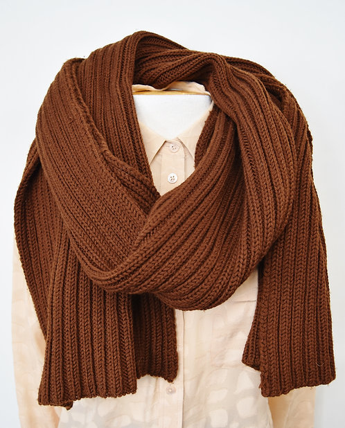 Yohji Yamamoto Brown Knit Scarf