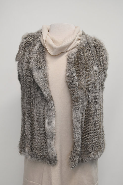 525 America Luxe Rabbit Fur Vest Size Medium
