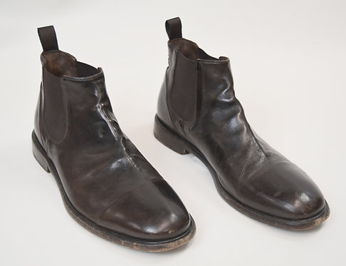 M. Gemi Dark Brown Leather Boots Size 9.5