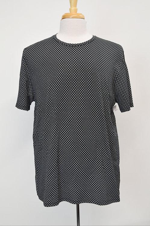Theory Black Print T-Shirt Size XXL