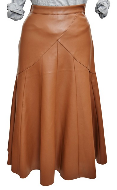 Maeve Brown Faux Leather Skirt Size 0