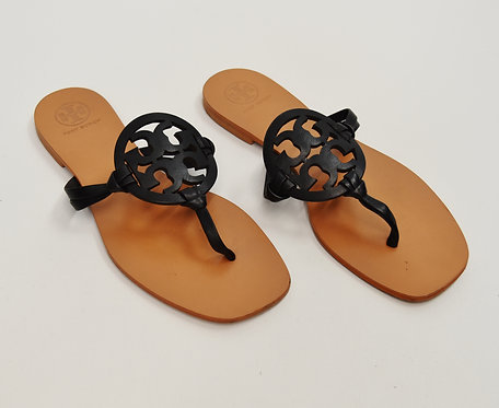 Tory Burch Black Leather Sandals Size 6