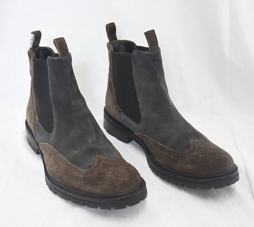 Gold Brothers Gray & Brown Suede Boots Size 10