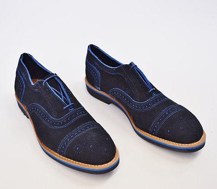 Allen Edmonds Black & Blue Suede Shoes Size 10