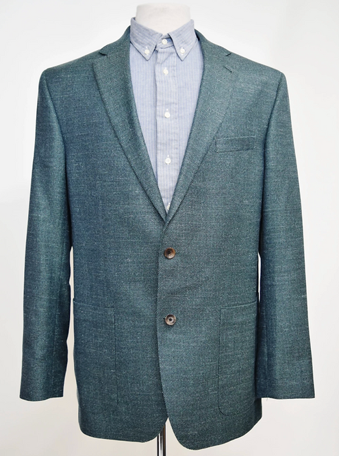 Piatelli Teal Tweed Blazer Size 44L
