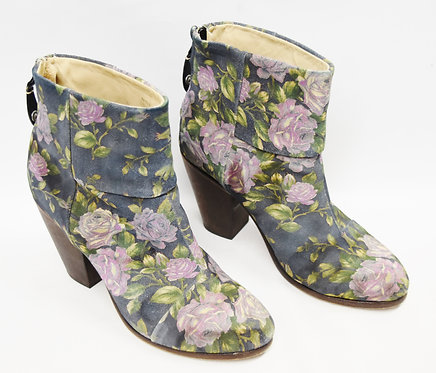 Rag & Bone Floral Booties Size 9