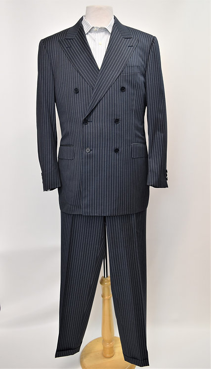 Canali Double Breasted Pin Stripe Suit Size 40R