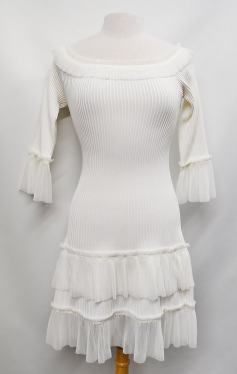 Jonathan Simkhai White Ribbed Dress Size S/M