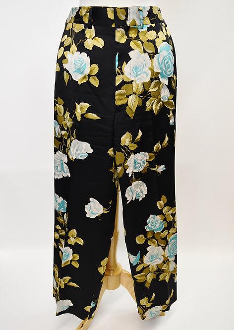 Junya Watanabe Black Floral Satin Trousers Size Medium
