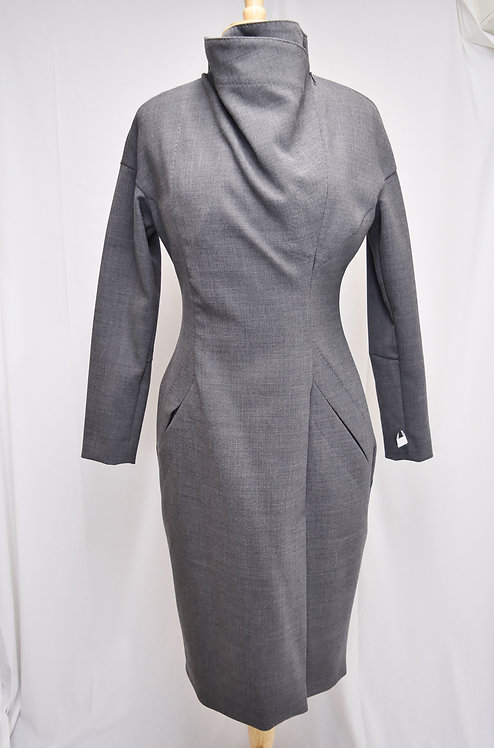 Ramune Piekautaite Gray Dress Size 8