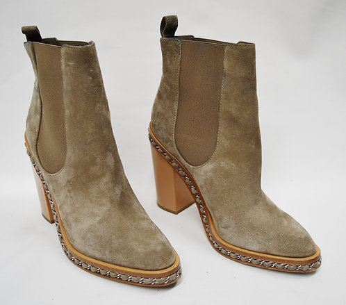 Chanel Tan Suede Chelsea Boots Size 12