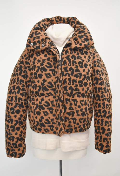 APPARIS Cheetah Print Puffer Coat Size Small