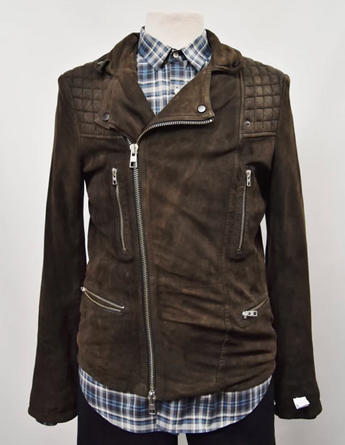 AllSaints Brown Suede Jacket Size Small