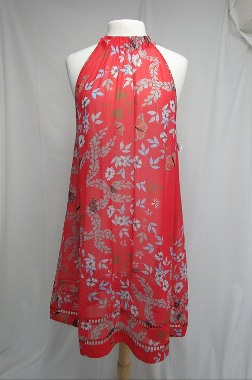 Ted Baker Coral Floral Dress Size Small (6)