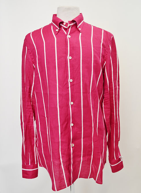 Paul Stuart Pink Stripe Shirt Size Large