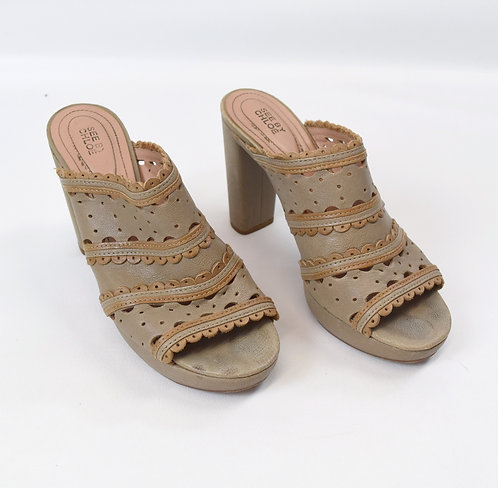 See By Chloe Beige Leather Heels Size 8