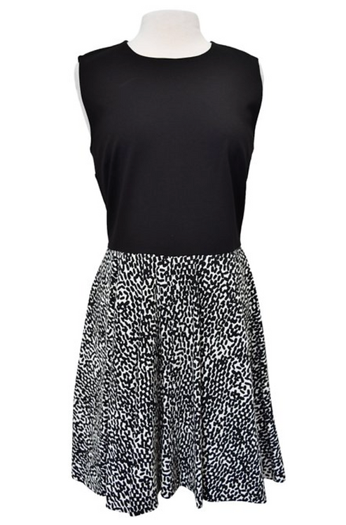 Diane Von Furstenberg Black & White Dress Size 14