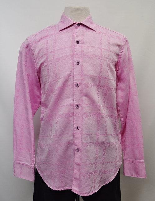 Robert Graham Pink Print Shirt Size Medium