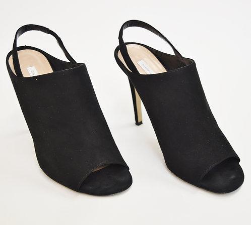 Diane Von Furstenberg Black Suede Heels Size 8