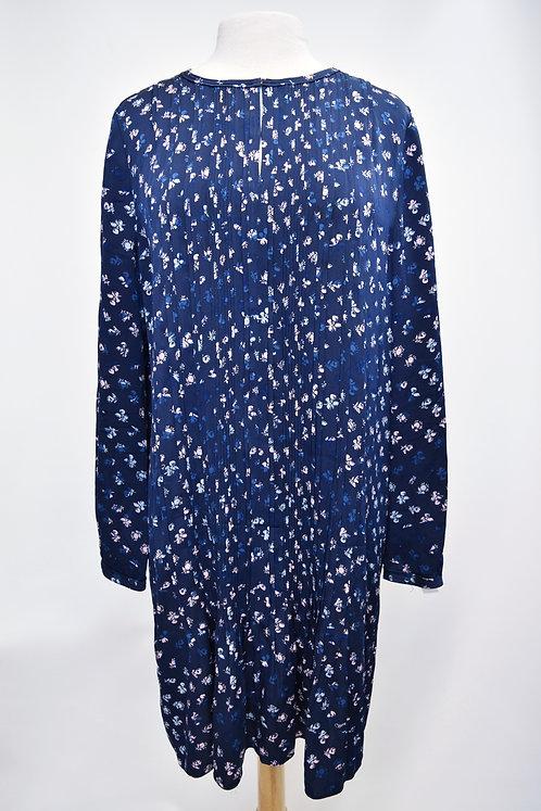 Diane Von Furstenberg Blue Floral Dress Size 12