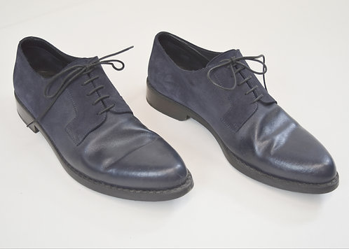 Jimmy Choo Navy Leather & Suede Shoes Size 11