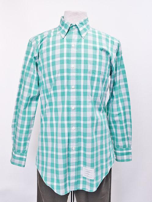 Thom Browne Green Plaid Shirt Size Medium