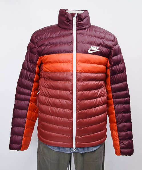 Nike Maroon & Red Quilted Jacket Size Small