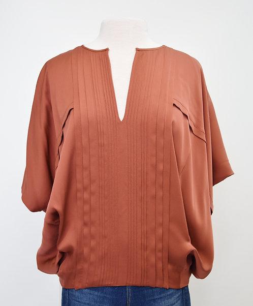 Diane Von Furstenberg Apricot Silk Blouse Size Small