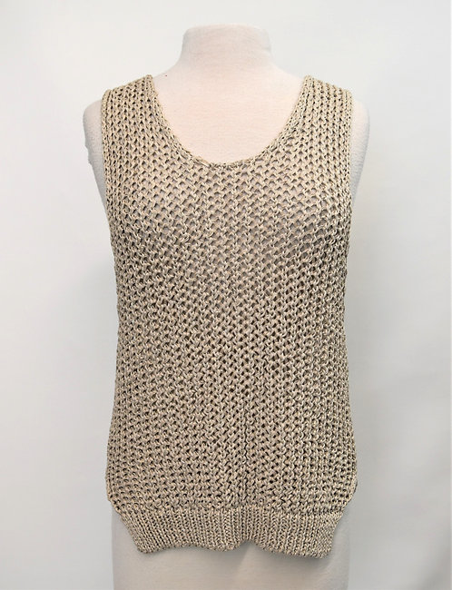 Peserico Beige Knit Top Size Medium