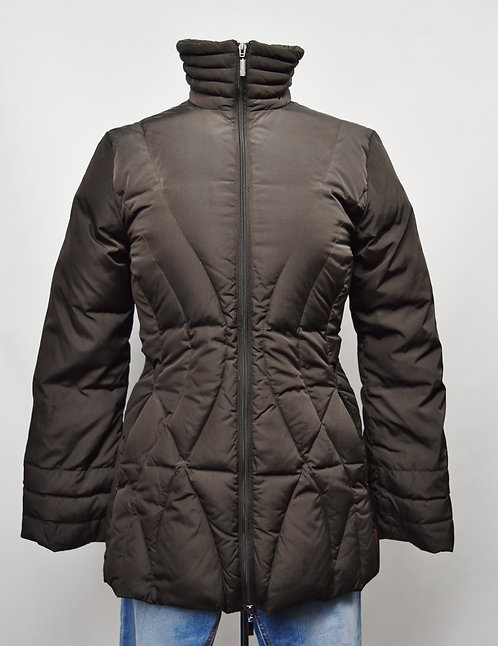 Moncler Brown Quilted Puffer Coat Size XS