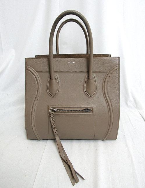 Celine Taupe Leather Phantom Luggage Bag