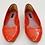 Thumbnail: Louis Vuitton Orange Patent Leather Flats Size 7