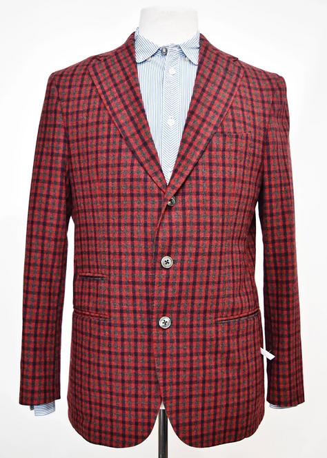 Flannel Bay Red Check Blazer Size 40R