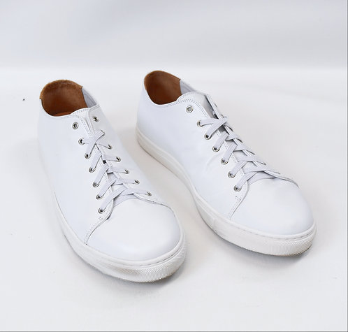Sunspel White Leather Sneakers Size 10