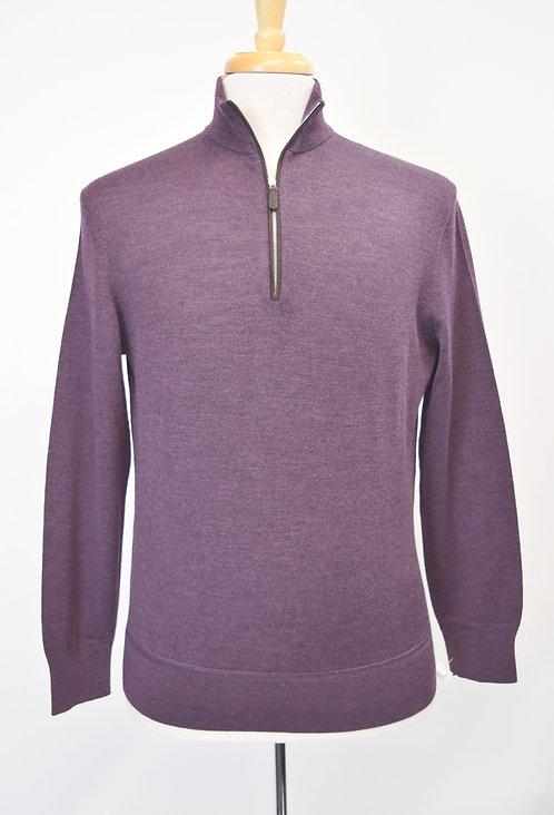 Ermenegildo Zegna Purple Wool & Silk Blend Sweater Size Medium