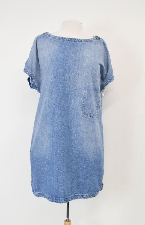Current Elliott Light Wash Denim Dress Size Medium