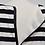 Thumbnail: Alice & Olivia Black Stripe Dress Size Large